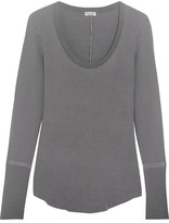 Splendid Nordic Waffle-knit Stretch Supima Cotton And Micro Modal-blend Top - Dark gray