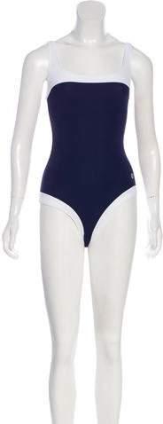 Striped Logo Swimsuit w- Tags