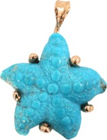 Lucifer Vir Honestus Carved Turquoise Starfish Pendant