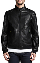 Hugo Boss Boss Green Jesbo Leather Jacket, Black
