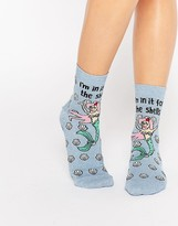 Asos Mermaid 'I'm In It For The Shells' Ankle Socks