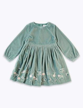 Marks and Spencer Velvet Embellished Dress (3 Months - 7 Years)