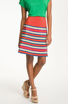 MARC BY MARC JACOBS 'Jacobson' Stripe Silk A-Line Skirt