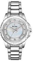 Bulova Ladies Mother-of-Pearl Diamond Dial Bracelet Watch