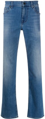 7 For All Mankind Light-Wash Straight Leg Jeans
