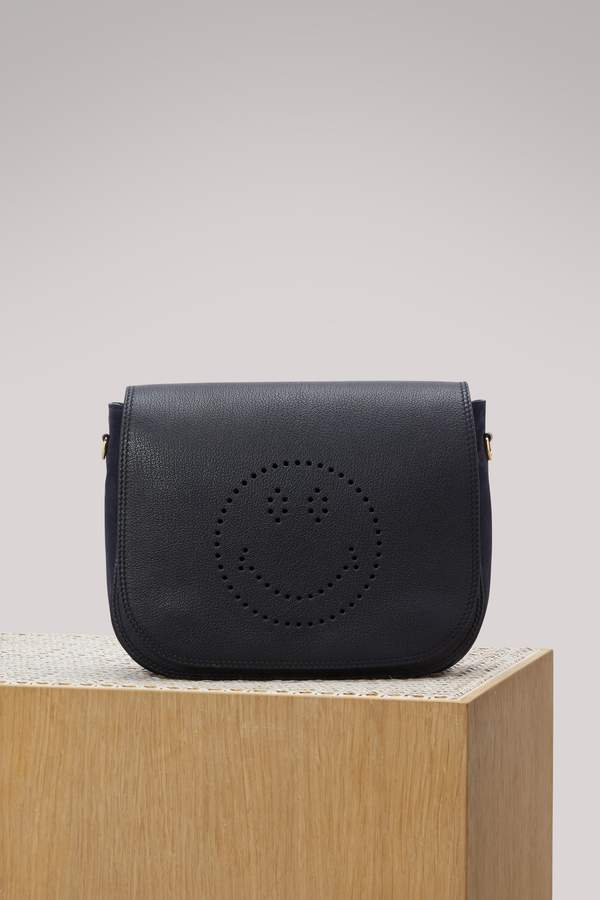 Anya Hindmarch Ebury Satchel Smiley shoulder bag