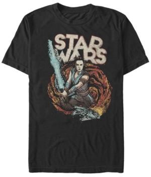 Star Wars Men's Episode Ix Rise of Skywalker Galaxy Rey T-shirt