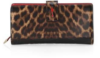 Christian Louboutin Paloma Leopard Continental Wallet