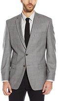 Calvin Klein Men's Malik Regular Fit Two-Button Notch Lapel Check Jacket, Grey