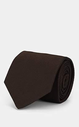 Isaia Men's Silk Necktie - Brown