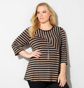 Avenue Angled Seam Stripe Top