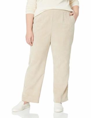 Alfred Dunner Women's Plus Full Back Elastic Proportioned Medium Pant