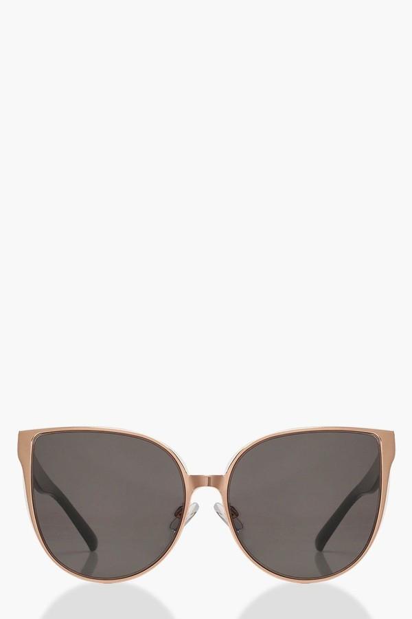 boohoo Oversized Retro Sunglasses