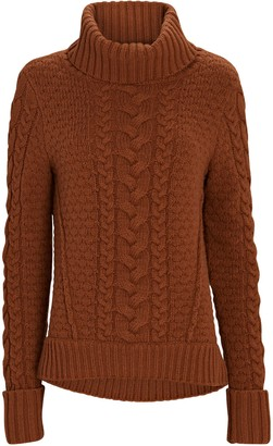 Veronica Beard Sereia Cable Knit Turtleneck Sweater