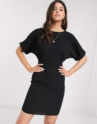 Asos Design DESIGN wiggle mini dress-Black