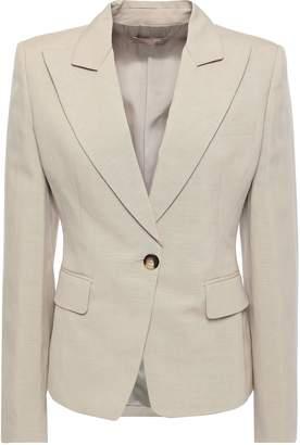 Michael Kors Linen And Silk-blend Blazer