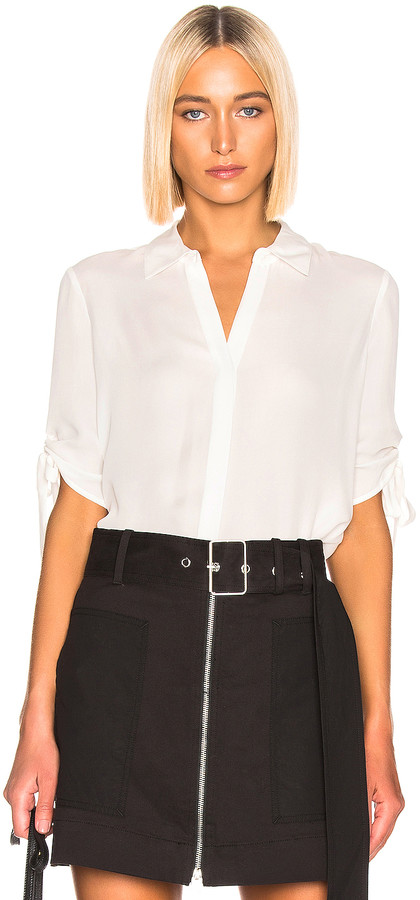 L'Agence Isa Top in White | FWRD