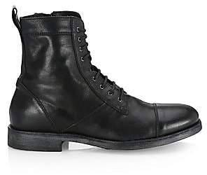 Saks Fifth Avenue Leather Combat Boots