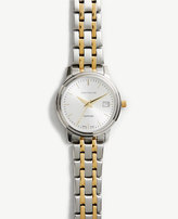 Ann Taylor Swiss Two Tone Watch