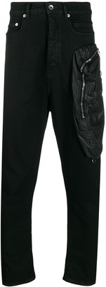 Rick Owens Tapered Drop-Crotch Jeans