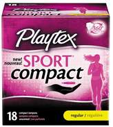 Playtex Sport Compact Tampon Regular - 18ct