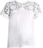 No.21 NO. 21 Lace-panelled cotton top