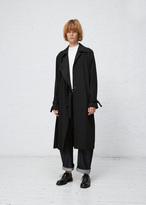 Jil Sander black drifting trench coat