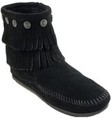 Minnetonka Women's Double-Fringe Side-Zip Boot