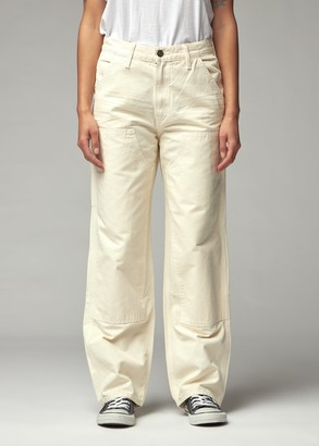 RE/DONE Women's Workmans Pant in Off White Size 25