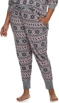 Croft & Barrow Plus Size Luxe Banded-Bottom Pajama Pants