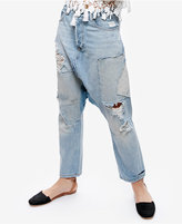 Free People Blazing Summer Cotton Ripped Harem Jeans
