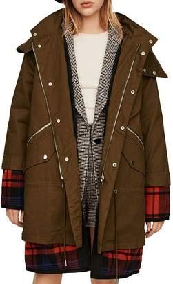 Maje Gapo Plaid Underlay Coat