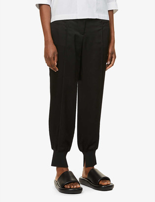 3.1 Phillip Lim Tapered mid-rise satin-crepe trousers