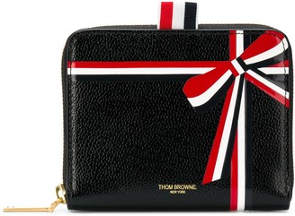 Thom Browne Zip Around Bow Purse