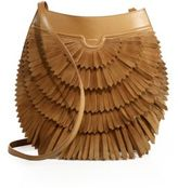 Agnona Polette Fringed Suede & Leather Crossbody Bag