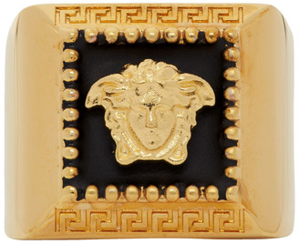 Versace Gold Square Medusa Ring