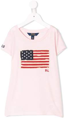 Ralph Lauren Kids US flag print T-shirt