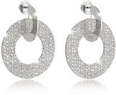 Rebecca R-Zero Rhodium Over Bronze Drop Hoop Earrings