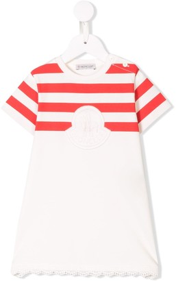 Moncler Enfant logo embroidered T-shirt dress
