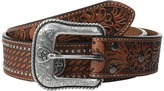 Ariat Floral Tool Embossed Tab Concho Belt