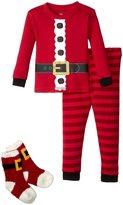 Petit Lem Holiday 3 Piece PJ Set (Baby) - Red - 24 Months