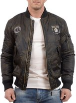 Tokyo Laundry Men's Lydiate Camo Bomber Jacket with Patches