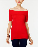 NY Collection Petite Off-The-Shoulder Sweater