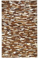 Pier 1 Imports Patchwork Saddle 5x8 Cowhide Rug