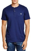 Fred Perry Men's Tie Trim Henley T-Shirt