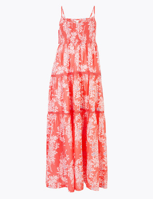 Marks and Spencer Pure Cotton Floral Maxi Dress