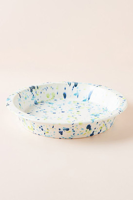 Anthropologie Clea Speckled Pie Dish By in Blue Size PIE DISH