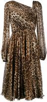 Dolce & Gabbana leopard print dress - women - Silk/Cotton/Polyamide/Spandex/Elastane - 44