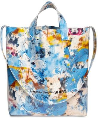 Comme des Garçons Shirt Futura 2000 Print Cotton & Pvc Tote Bag