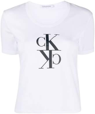 Calvin Klein Jeans mirrored logo crew-neck T-shirt